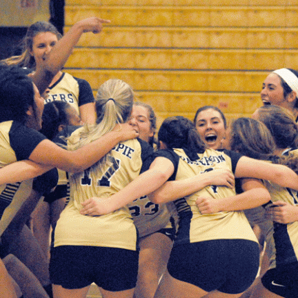Lady Golden Tigers find mixed results in volleyball action
